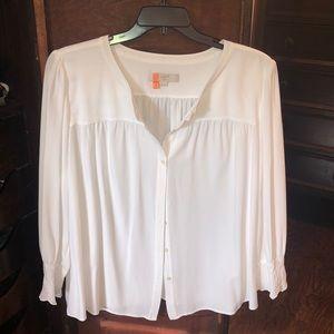 Loft 20 simple white viscose blouse